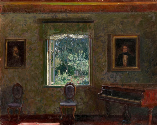Stanislav Yulianovich Zhukovsky. Interior. Sunny day