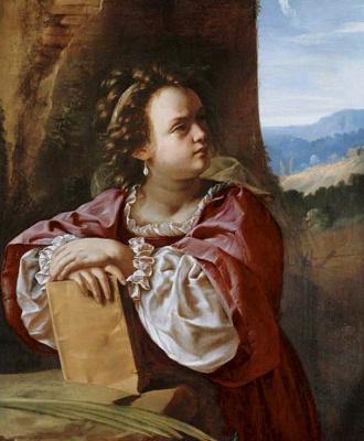 Artemisia Gentileschi. St. Catherine of Alexandria