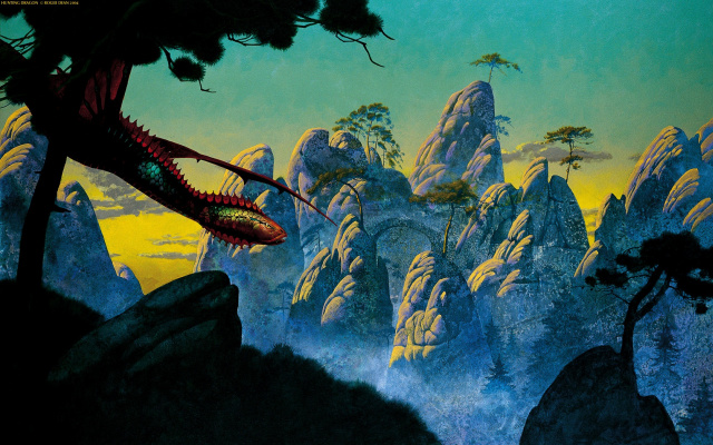Roger Dean. The world of the dragon