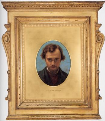 William Holman Hunt. Portrait of Dante Gabriel Rossetti (in preparation)