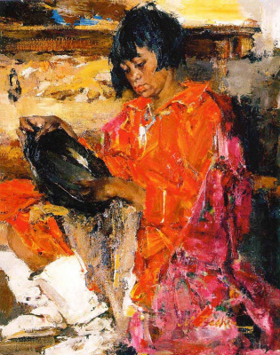 Indian girl with a pitcher