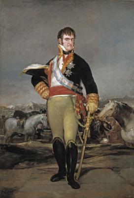 Франсиско Гойя. Портрет Фердинанда VII де Бурбона, короля Испании