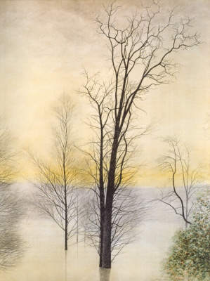 Леон Спиллиарт. Trees in the Flood (Arbres dans l'inondation), 1944 Watercolor on paper
