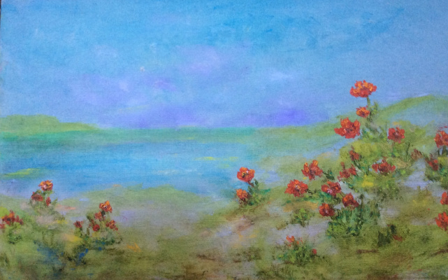 Rita Arkadievna Beckman. Anemones bloom on the Mediterranean coast