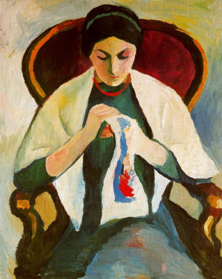 August Macke. Embroidery