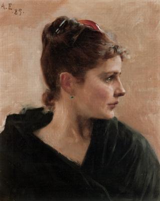 Albert Gustav Aristide Edelfelt. Portrait of a young lady