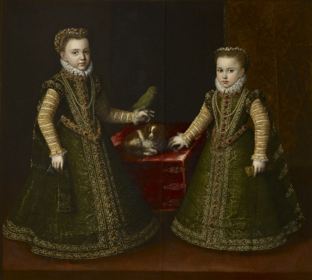 Sofonisba Anguissola. Infanta Isabella Clara Eugene and Catalina Michaela of Austria (authorship is not confirmed)