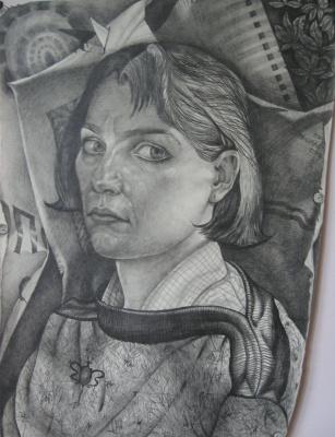 Elena Vladimirovna Tkachenko. Self-portrait