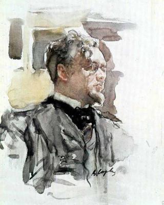 Valentin Aleksandrovich Serov. Portrait Of Sergei Sergeevich Botkin