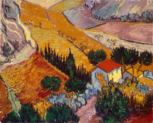 Vincent van Gogh. Landscape with house and ploughman