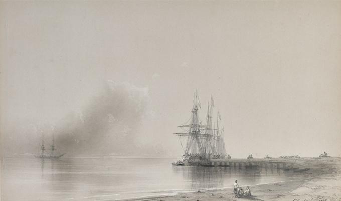 Ivan Aivazovsky. Pier on the sea