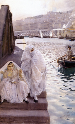 Anders Zorn. In the harbour of Algiers