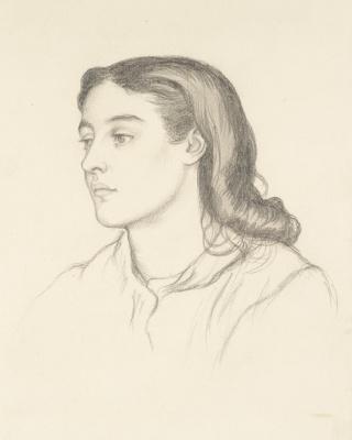 Dante Gabriel Rossetti. Miss Robertson (Mrs. Fernandez)
