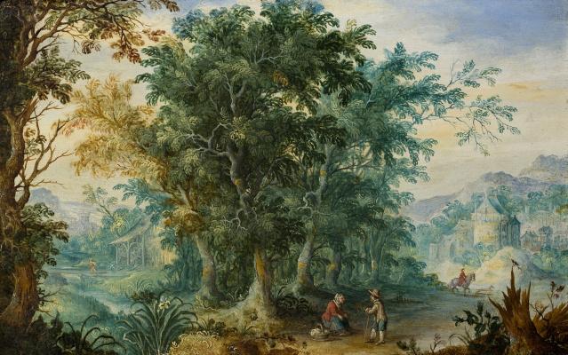 Jan Bruegel The Elder. Small forest landscape.