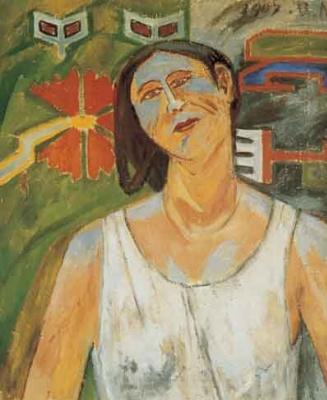 Михаил Федорович Ларионов. Портрет Н.Гончаровой