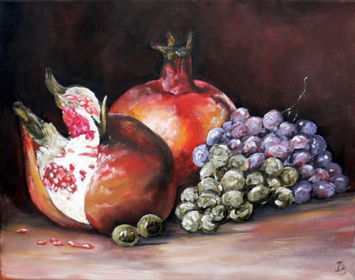 Sergei Nikolayevich Khodorenko-Zatonsky. Pomegranate with grapes