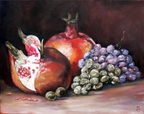 Сергей Николаевич Ходоренко-Затонский. Pomegranate with grapes