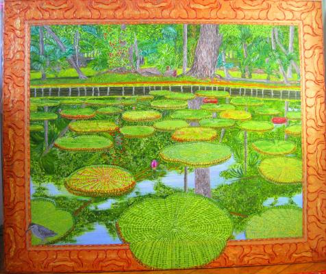 Eduard Поникаров. Water lilies Mauritius