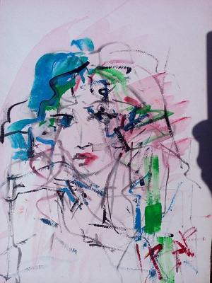 Larisa Baranova. Girl in a blue beret ---