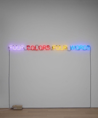 Joseph Kossuth. Four Colors Four Words