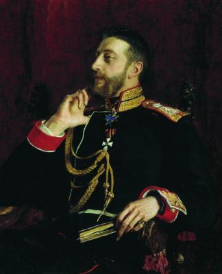 Ilya Efimovich Repin. Portrait of Grand Duke Konstantin Konstantinovich Romanov
