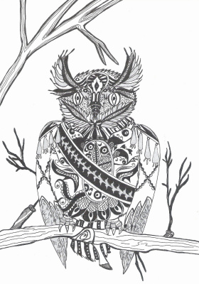 "Николай Николаевич Оларь. Series of stylized drawings, ""Birds"" (9)"