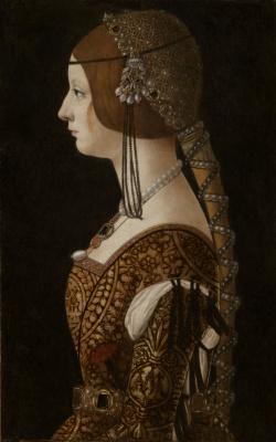 Giovanni Ambrogio de Predis. Bianca Maria Sforza II