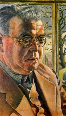 John Roddem Spencer-Stanhope. The man in glasses