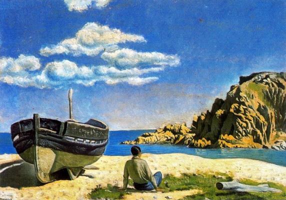 Анхель Планеллс. Лодка на пляже