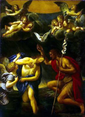 Франческо Альбани. Крещение Христа