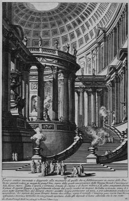 Джованни Баттиста Пиранези. Античный храм