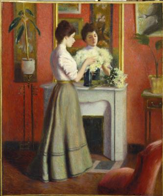 Федерико Дзандоменеги. Женщина у зеркала