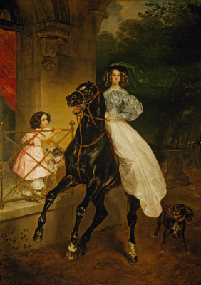 Karl Pavlovich Bryullov. Rider. Portrait Dzhovaniny Pacini and Amazilia, pupils of Countess Y. P. Samoilova