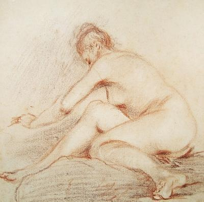 Antoine Watteau. Leaning Nude