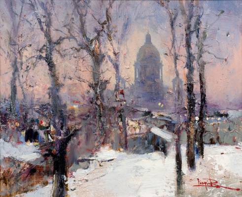Roman Ivanovich Lyapin. February. Dusk