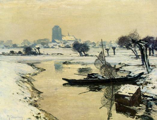 Максимилиан Кларенбах. Заснеженный пейзаж