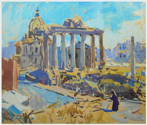 Tetyana Yablonska. Ruins of the Roman forum