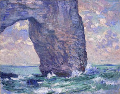 Claude Monet. Manport, view from below