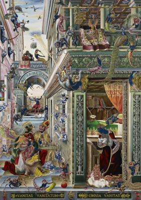 Rakib Shaw. The Annunciation (inspired by Carlo Crivelli)