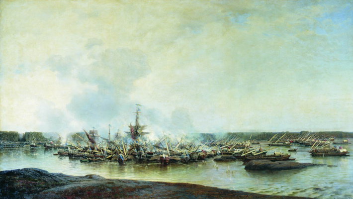 Alexey Petrovich Bogolyubov. Battle of Gangut July 27, 1714