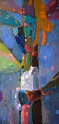 Elena Valeryevna Shipilova. Tree and cats