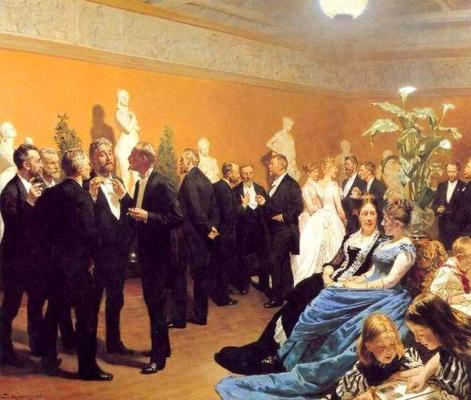 Peder Severin Kreyer. Meeting at the Museum