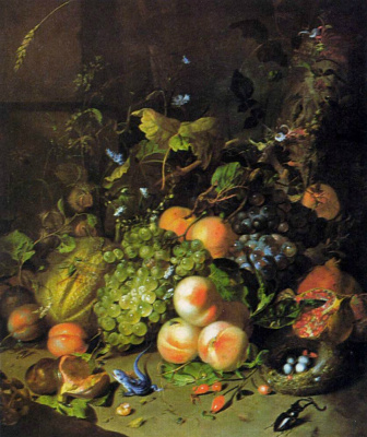 Rachelle Ruysch. Fruits and insects