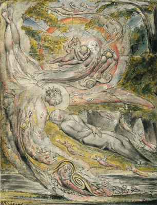 "William Blake. Mystical mystery of Milton. Illustrations to the poems of Milton's ""Fun"" and ""Thoughtful"""