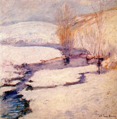 Джон Генри Твахтман. Зимний пейзаж