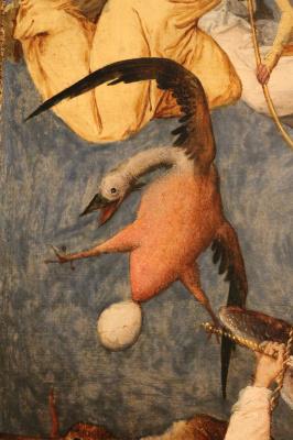 Питер Брейгель Старший. Падение мятежный ангелов. Фрагмент 8. Птица