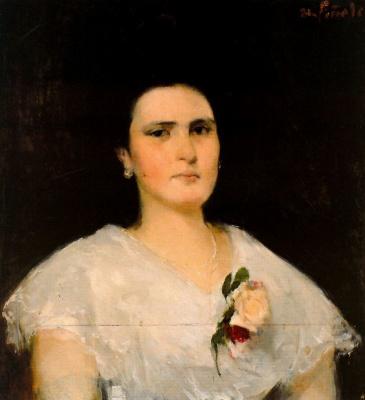 Никанор Пинол. Женщина с цветком