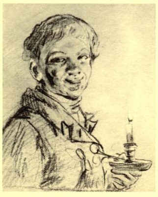 Boy-servant with a candle
