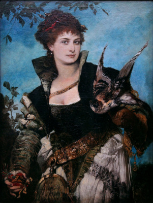 Hans Makart. Lady with a Falcon