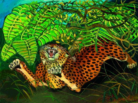 Антонио Лигабуэ. Леопард